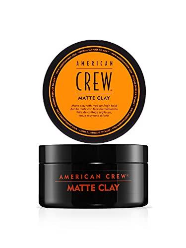 AMERICAN CREW – Matte Clay, 85 g, Stylingclay für Männer, Haarprodukt mit mittlerem bis starkem Halt, Stylingprodukt für optimale Formbarkeit, Struktur & leichten Glanz