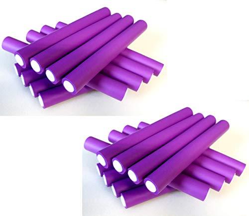 Papilotten Flex-Wickler-Set violett Ø 20-21 mm (24 Stck. 180 x 21 mm) (von deutschem Friseurbedarf-Fachhändler!)