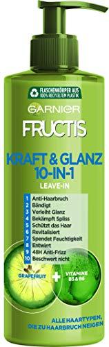 Garnier Leave-In 10-in-1, Kraft & Glanz schützt vor Haarbruch, bändigt das Haar, verleiht Glanz & bekämpft Spliss, mit Grapefruit-Extrakt, Fructis, 400 ml