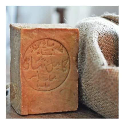 Moè® Original Aleppo Seife 60%/40% - 200g Olivenöl 60% / Lorbeeröl 40% fürs Haar, Gesicht & Körper - 100% Naturprodukt Vegan – Alepposeife Olivenölseife Handarbeit - Plastikfreie Verpackung