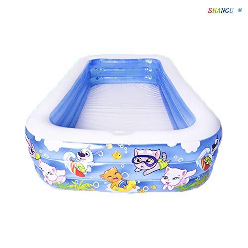 SHANGU Baby Säuglings Reise Aufblasbare Anti-Rutsch Badewanne Kinder Faltbare Schwimmbad Becken Sitz Badewannen Große Größe Luftdusche (für 0-6 Jahre) - Blau
