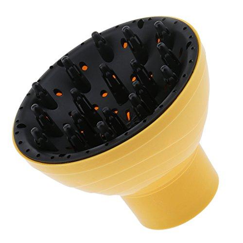 Haartrockner Diffusor Fön Universal Diffuser Luftdusche Haartrockenhaube - Gelb