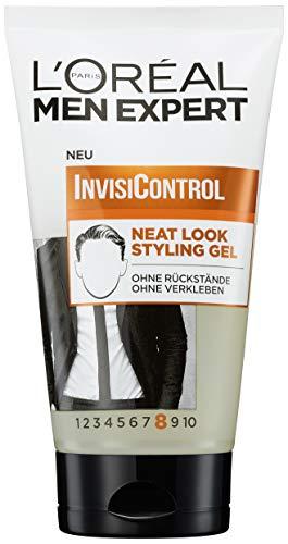 L'Oréal Men Expert InvisiControl Neat Look Styling Gel, für gepflegte & natürliche Styles, nach Belieben modellierbar ohne zu verkleben, 150ml