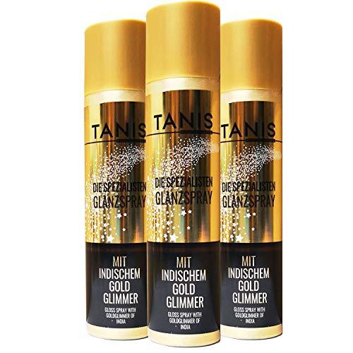 Tanis Professional Die Spezialisten Glanzspray mit indischem Gold Glimmer 1 x 300ml