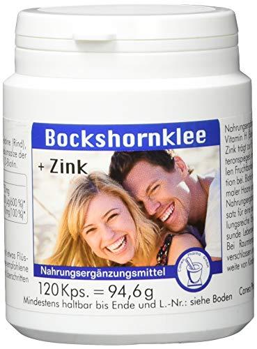 Pharma-Peter BOCKSHORNKLEE + Zink Kapseln, 120 Kapseln