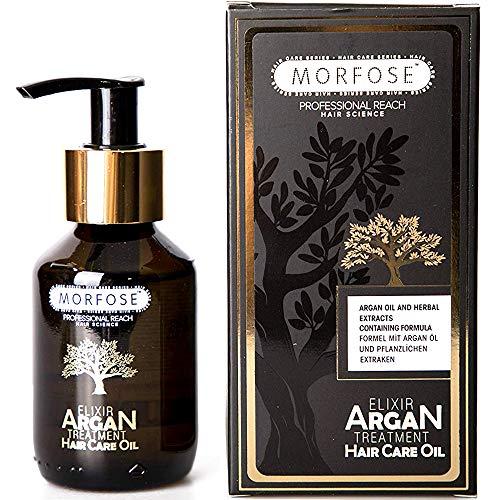 Morfose Elixir Argan Öl Haaröl 100ml Hair Care Oil Leave-in Haarpflege Treatment Haarkur für Stark beschädigtes brüchiges Haar Beauty-Produkt Arganöl