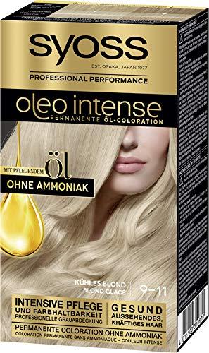 Syoss Oleo Intense Permanente Öl-Coloration 9-11 Kuehles Blond, mit pflegendem Öl & ohne Ammoniak, 3er Pack(3 x 115 ml)