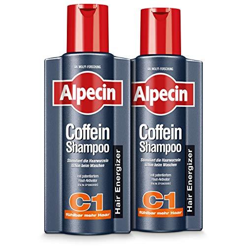 XXL Alpecin Coffein-Shampoo C1, 2 x 375ml - Beugt erblich bedingtem Haarausfall vor, für fühlbar mehr Haar