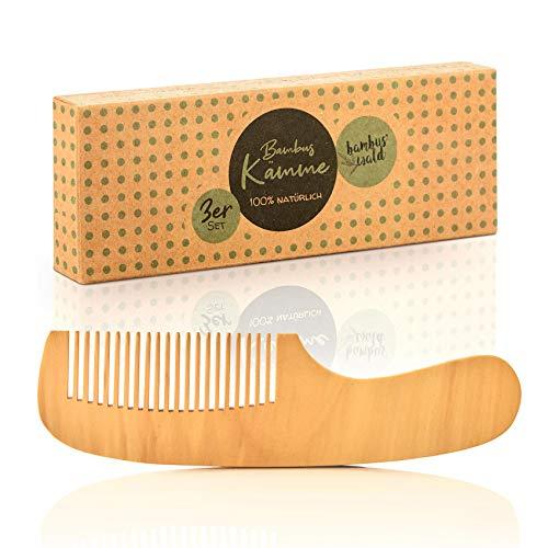 bambuswald© ökologischer Haarkamm aus 100% Bambus, handgefertigt - Kamm für Damen, Herren, Mädchen & Frauen - Holzkamm | Naturkamm für optimale Haarpflege - Frisierkamm | Taschenkamm gegen Haarbruch