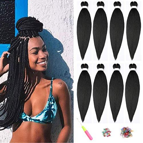 Pre Stretched Braiding Hair ShowJarlly Easy braid 8 Packs/Lot Yaki Texture Crochet Braiding Haarverlängerung Juckreiz Frei Kostenlose Heißwassereinstellung Kanekalon Synthetic Fiber