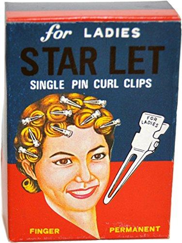 Unbekannt 50s Starlet Wasserwellen Vintage HAARCLIPS Clips - ca. 30 Stück Rockabilly
