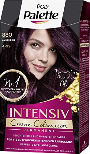 SCHWARZKOPF POLY PALETTE Intensiv Creme Coloration, Haarfarbe 880/4-99 Aubergine, 3er Pack (3 x 128 ml)