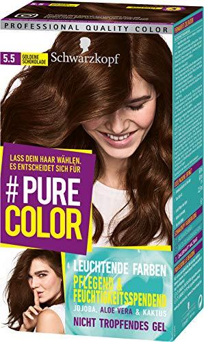 SCHWARZKOPF #PURE COLOR Coloration 5.5 Goldene Schokolade Stufe 3, 1er Pack (1 x 143 ml)