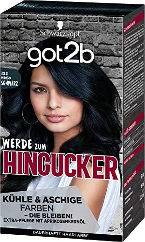 got2b Hingucker, Haarfarbe 322 Indigo Schwarz, 143 ml