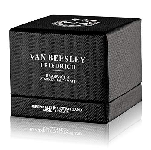 VAN BEESLEY Friedrich Haarwachs I Handgefertigtes Styling Wachs I extra starke Haar-Paste als Gel Ersatz I höchste natürliche Qualität mit Matt Finish (50ml)