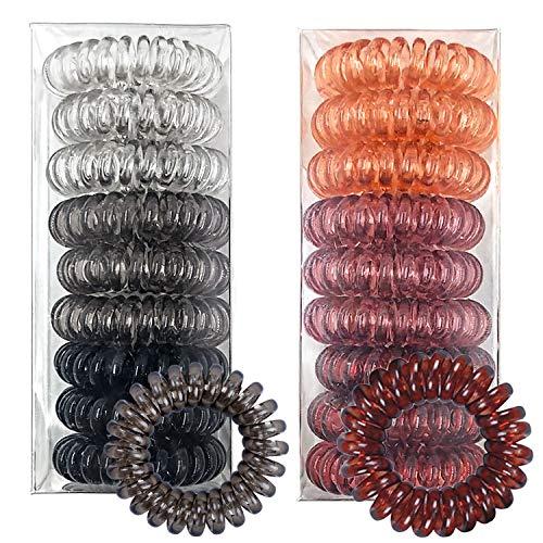 LABOTA 18 Stück Spirale Haargummi Telefonkabel Haargummi Elastisch Haarband Telefonkabel Anti-Spliss Zopfgummi Fitness Haarband für Damen und Mädchen