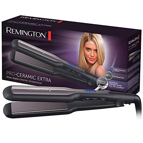 Remington Haarglätter Pro-Ceramic Extra S5525, lange und extra breite Stylingplatten, schwarz
