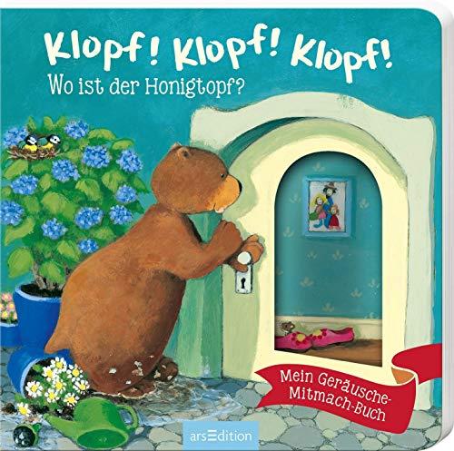 Klopf! Klopf! Klopf! Wo ist der Honigtopf?: Mein Geräusche-Mitmach-Buch