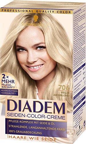 SCHWARZKOPF DIADEM Seiden-Color-Creme 706 Helles Aschblond, 3er Pack (3 x 180 ml)