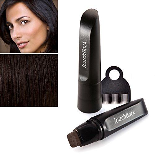 TouchBack PRO Ansatz-Kaschierstift für graues Haar – Echte Haarfarbe Dunkelbraun