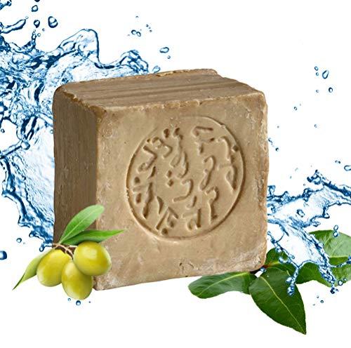 Carenesse Original Aleppo Seife Klassik, 85% Olivenöl 15% Lorbeeröl, Olivenölseife, Haarseife, ca. 200 Gramm