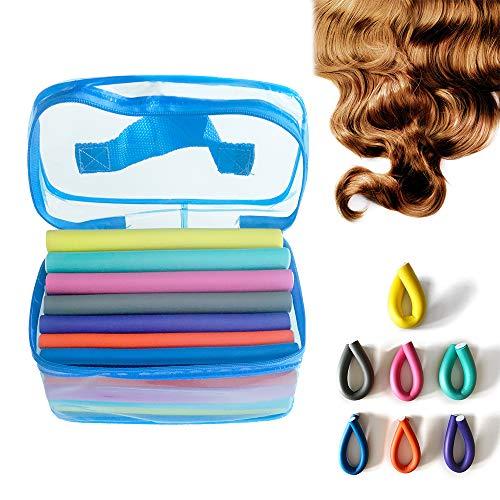 UISEBRT 42 Stück Papilotten Haar Lockenwickler über Nacht - Haar Styling-Werkzeug Flexibel DIY für große und kleine Locken (42 Stück)