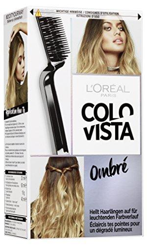L'Oréal Paris Blondierung für Ombré-Look, Aufheller mit Anti-Haarbruch Technologie, Blondier-Set mit Expertenbürste, Colovista Bleach Kit Ombré, Ombré, 1 Stück