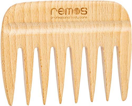 Remos Holzkamm aus heimischem Buchenholz mit Griffkerbe 9 cm