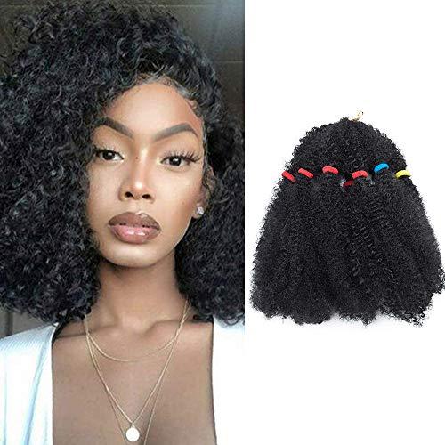SEGO 11' Afro Cochet Braids Kinky Curly Hair Bulk Extensions Marlybob Häkelzöpfe verworrenes lockiges Haar Schwarz & Lila Schwarz-1