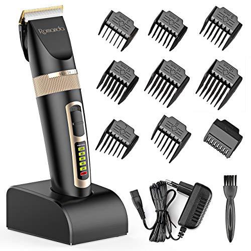 Romanda Haarschneidemaschine Leise Haarschneider für Herren Haartrimmer Bartschneider Barttrimmer Präzisionstrimmer Langhaarschneider