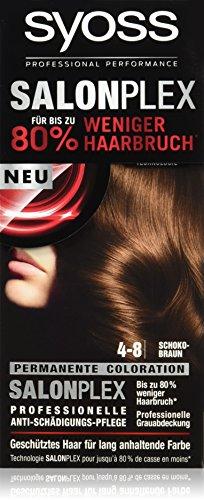 Syoss Haarfarbe, 4-8 Schokobraun, 3er Pack (3 x 115 ml)