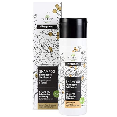 Natyr Bio Pflege-Shampoo mit Arganöl und Feigenkaktus 200 ml - Glanzpflege für feines und trockenes Haar - ohne Parabene, Silikone und SLS