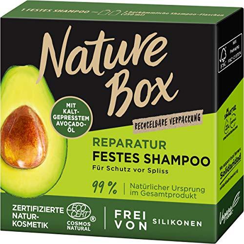 Nature Box Reparatur Festes Shampoo Avocado-Öl, 85 g