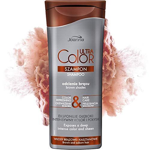 Joanna Ultra Color - Shampoo für Braune Haare - Stärkendes & revitalisierendes Haarshampoo - Farbauffrischung & Haarpflege - Vertieft die Farbintensität - Pflege & Feuchtigheit für Ihr Haar - 200 ml