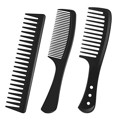 FANDE Haarkamm, 3PCS Breiter Kamm, Feiner Kamm, Hitzebeständiger Antistatischer Kamm, Geeignet für Langes Haar, Kurzes Haar, Glattes Haar, Lockiges Haar