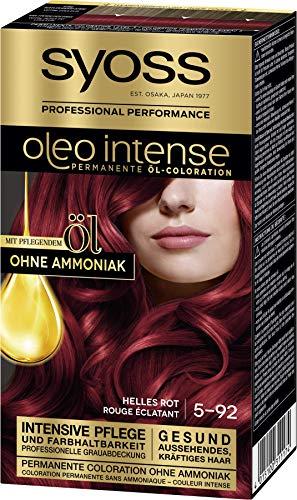 SYOSS Oleo Intense Permanente Öl-Coloration Haarfarbe 5-92 helles Rot mit pflegendem Öl ohne Ammoniak, 3er Pack (3 x 115 ml)