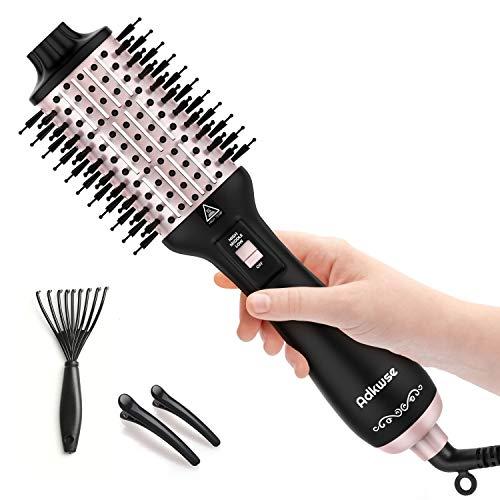 Adkwse Haartrockner, 2020 Warmluftbürste Hair Dryer Volumizer Styler, 5 in 1 Heißluftbürste Negativer Ionen Stylingbürsten, Haarglätter Bürste Föhnbürste Heißluftkamm (Letztes Upgrade)