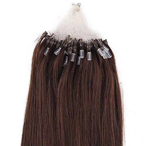 Beauty7-50 STK Echthaarstraehnen Remy Echthaar Haarverlaengerung Loop Micro Ring Microring Haare 55cm Echthaar Extensions 1g Straehnen 22' Schwarz, braun und Blond