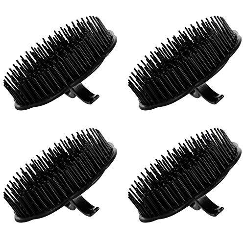Frcolor Shampoo Bürste Kopfhaut Dusche Massagebürste Massagekamm 4 Stück (Schwarz)