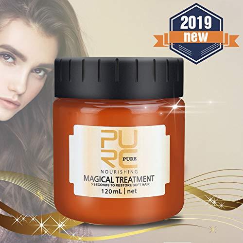 Charminer Treatment Haarmaske, Haarbehandlungsmaske 5 Sekunden für repariert Schaden Haarwurzel Kopfhaut Tiefenwirksame Glättung Haarpflege um Weiches Haar Wiederherzustellen 120ml (120ml)
