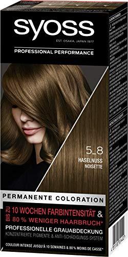 SYOSS Coloration, Haarfarbe Stufe 3 5_8 Haselnuss, bis zu 10 Wochen Farbintensität, 3er Pack (3 x 115 ml)