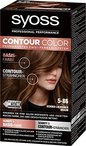 SYOSS Contour Color Stufe 3 5-86 Schoko-Liebhaber Braun, permanentes Zwei-Farben-System, 1er Pack (1 x 183 ml)