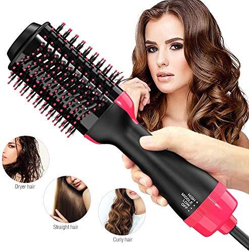 Warmluftbürste Brush FAMINESS Professionel Haartrockner & Volumizer Styler Warmluftbürste Haarglätter Negativer Lonenfön Föhnen und Stylen Heißluftbürste Lockenwickler für alle Haartypen