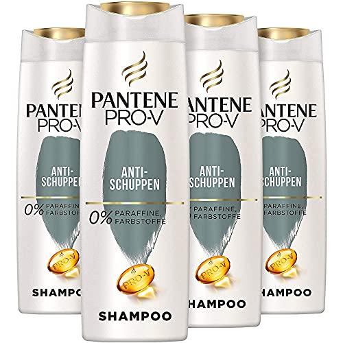 Pantene Pro-V Anti-Schuppen Shampoo Für Alle Haartypen, 4er Pack (4 x 300 ml) Schuppen Shampoo, Shampoo Trockene Kopfhaut, Shampoo Damen, Haarpflege, Reinigt Gründlich, Beauty