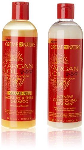 "Argan-Shampoo & Pflegespülung-Set ""Crème of Nature"", 354 ml"