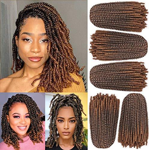 Xtrend 12 Zoll 5 Packs Spring Twist Haar für notleidende Schmetterling Locs Ombre Mini Twist Häkeln Flechten Haar Synthetische flauschige Haarverlängerung für schwarze Frauen (1B/30#)
