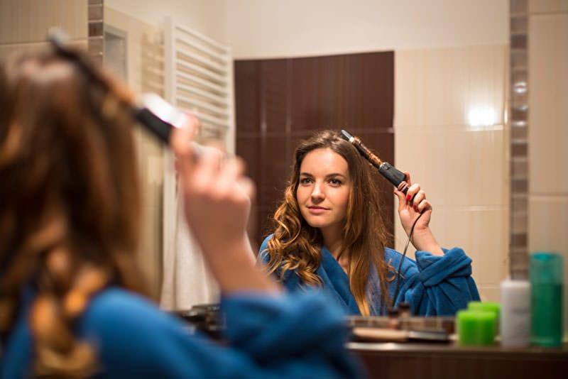 Warmluft Lockenbürsten zum lange Haare Pflegen